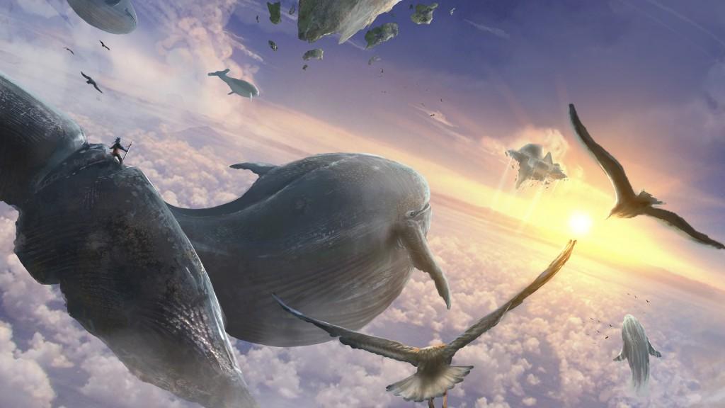киты в небе